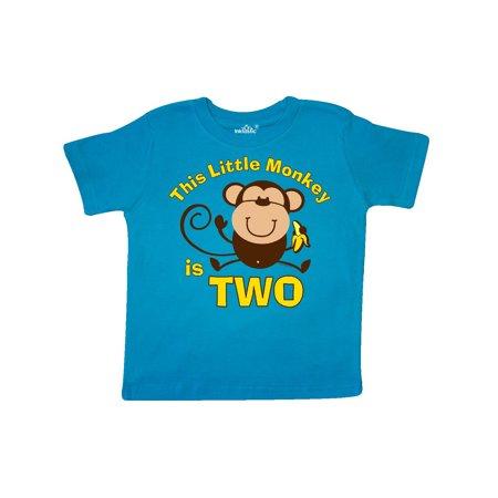 82028583f Inktastic - Little Monkey 2nd Birthday Boy Toddler T-Shirt - Walmart.com