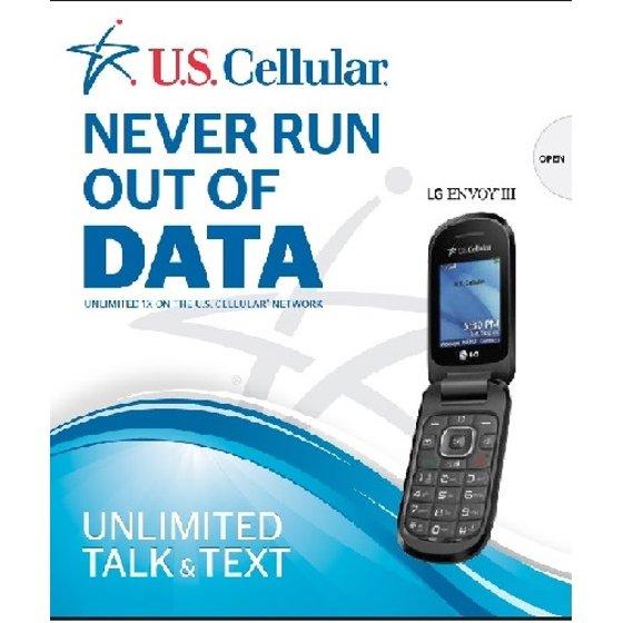 U S  Cellular LG Envoy III Prepaid Cell Phone