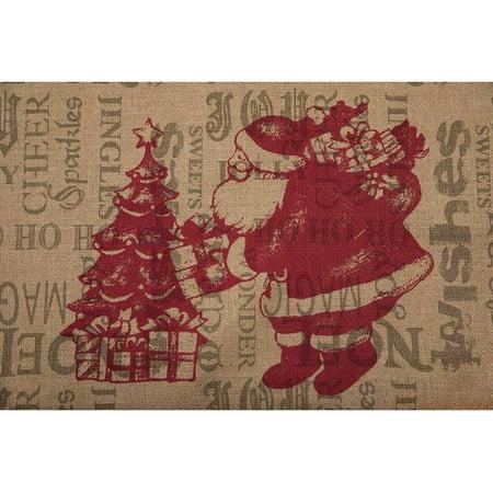 the holiday aisle saint nick burlap christmas tree skirt - Burlap Christmas Tree