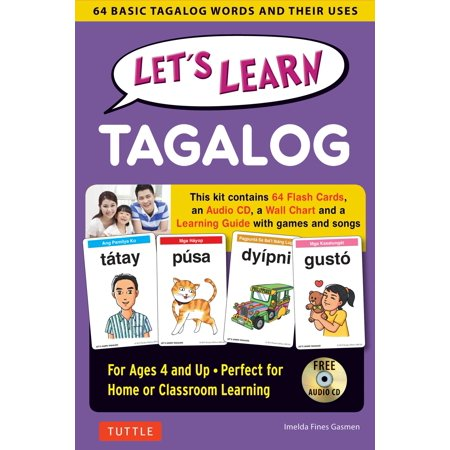Let's Learn Tagalog Kit : 64 Basic Tagalog Words and Their Uses (Flashcards, Audio CD, Games & Songs, Learning Guide and Wall Chart) - Words To The Song This Is Halloween