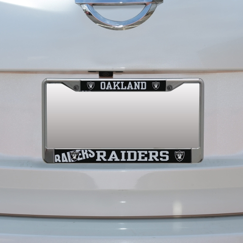 Oakland Raiders Small Over Large Mega License Plate Frame - No Size