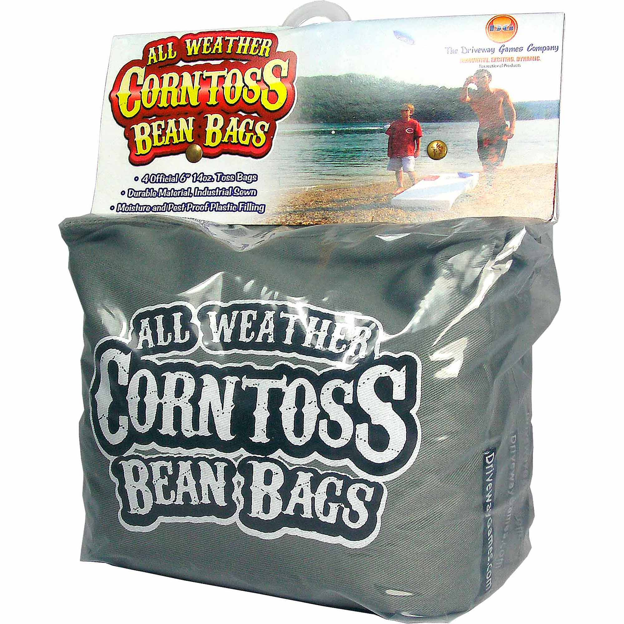 Driveway Games All Weather Corntoss Bean Bags, Grey
