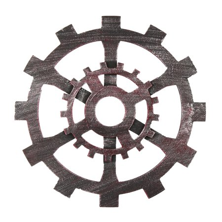 12 inch Diameter Industrial Vintage Wooden Gear Retro wall gear Wall Hanging Home Room Bar Cafe Pub Office Art Decor - image 4 of 7