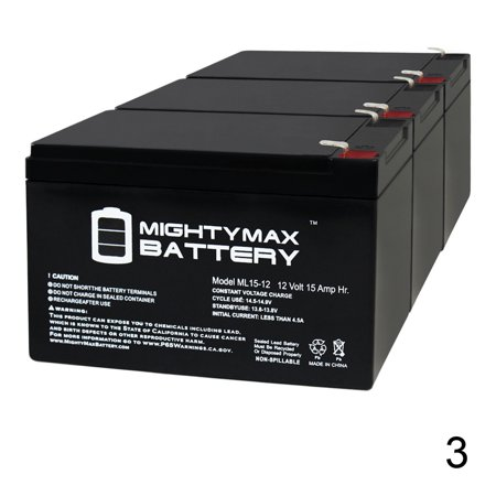 12V 15AH F2 Replacement Battery for Merits Mini Coupe S549 - 3 Pack