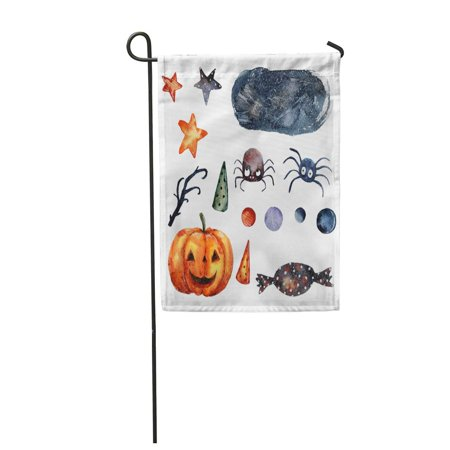 SIDONKU Watercolor Halloween Spiders and Pumpkin Colorful Candy Autumn Black Branch Garden Flag Decorative Flag House Banner 28x40 inch](Colorful Spider)