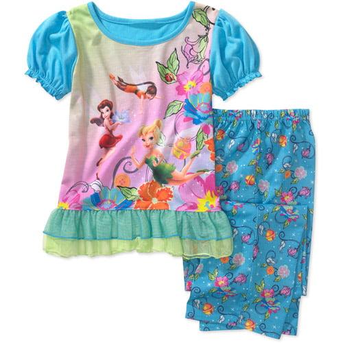 Disney - Girls' 2-Piece Tinker Bell Pajama Set