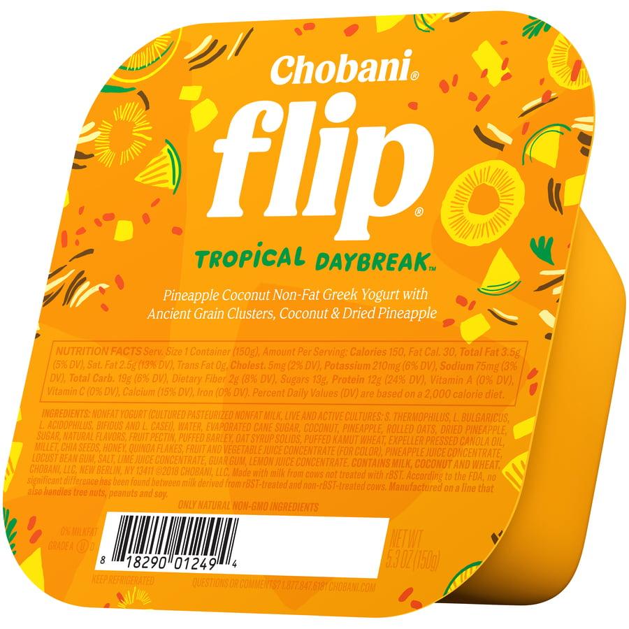 Chobani Flip, Tropical Escape Low-Fat Greek Yogurt, 5.3 oz