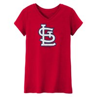 MLB St Louis Cardinals TEE Short Sleeve Girls 50% Cotton 50% Polyester Team Color 7 - 16