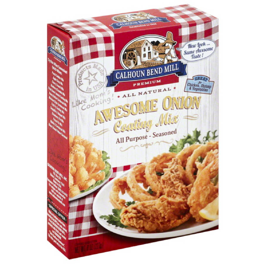 Calhoun Bend Mill Premium Awesome Onion Coating Mix, 8 oz, (Pack of 6)
