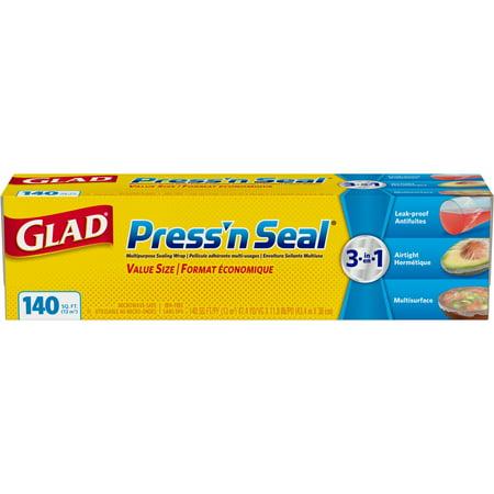 Glad Pressn Seal Food Plastic Wrap   140 Sq Ft Roll