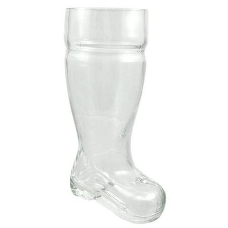 One Liter Heavy Glass Beer Boot Pitcher Mug