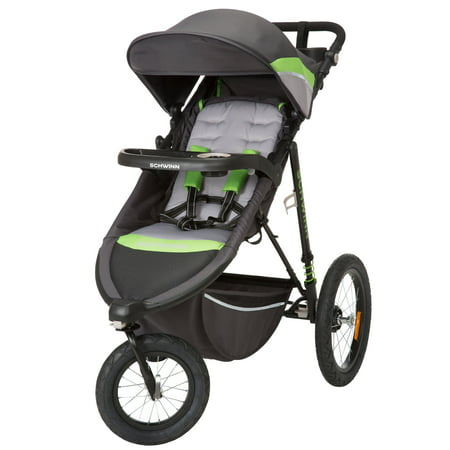 Schwinn Interval 2-in-1 Jogging Stroller, Green Light