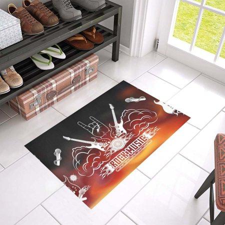 MKHERT Rock Music Doormat Rug Home Decor Floor Mat Bath Mat 23.6x15.7 inch (Rock N Roll Home Decor)