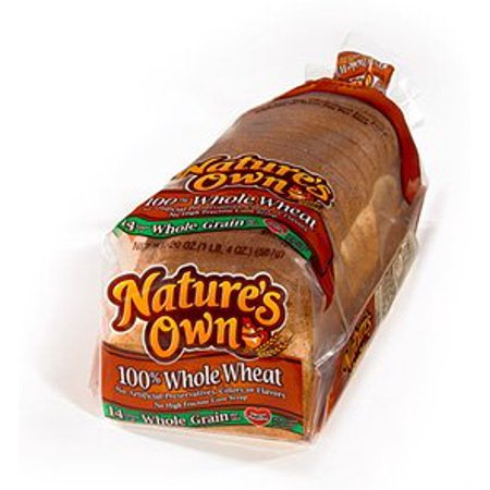 Nature's Own Whole Wheat Bread - Two Loaves - Halloween Food Bread