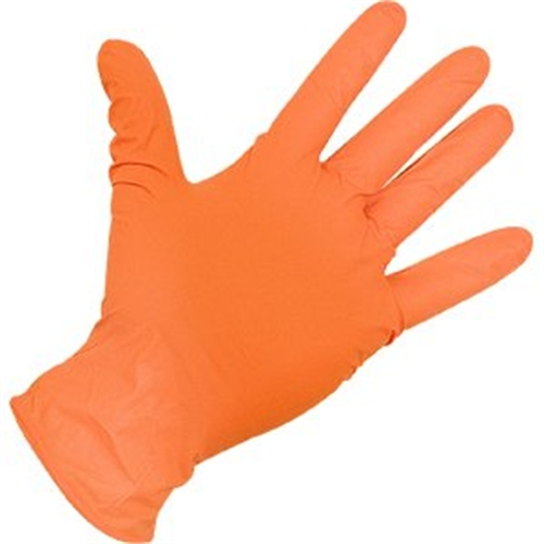 Atlantic Safety Products Or-Xl Xl Orange Nitrile Gloves 6Mil