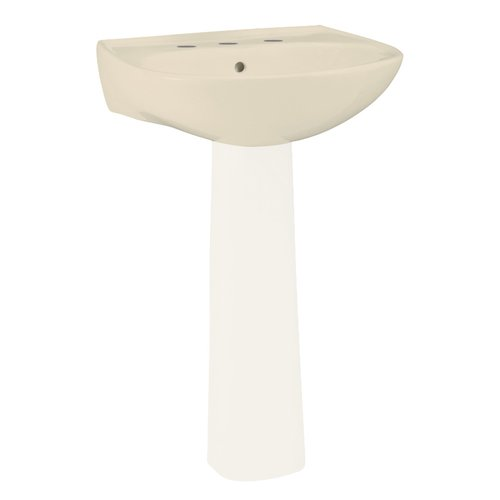 Sterling By Kohler Sacramento Ceramic 21u0027u0027 Pedestal Bathroom Sink With  Overflow