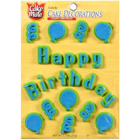 cake mate happy birthday candy cake decorations. Black Bedroom Furniture Sets. Home Design Ideas
