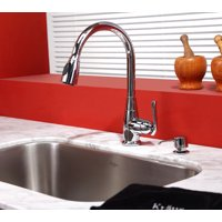KRAUS Single-Handle Stainless Steel High Arch Kitchen Faucet with Pull Down Dual-Function Sprayer and Soap Dispenser in Oil Rubbed Bronze