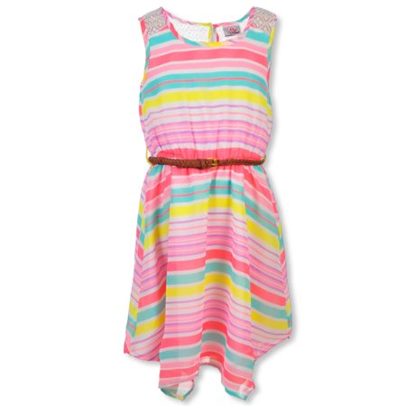 Real Love Girls' Belted Dress