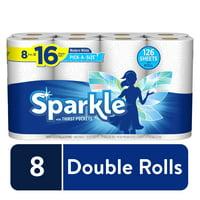 Sparkle Pick-A-Size Paper Towels, 8 Double Rolls