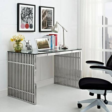 office desk walmart. modway gridiron stainless steel office desk in walmart r