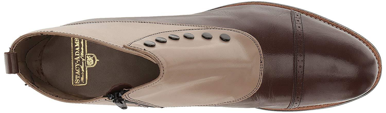 Stacy Adams Men's Madison Cap-Toe Spat Boot, Brown, Size 7.5