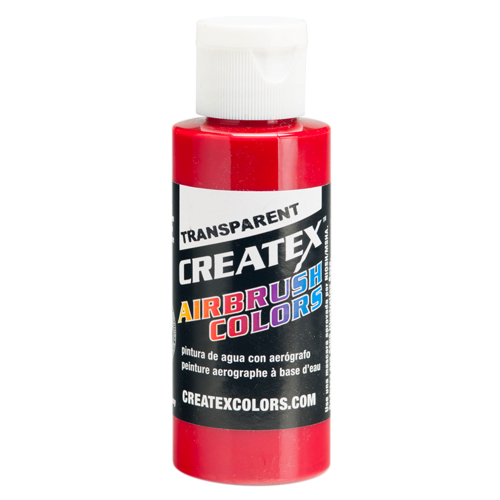 2oz Createx Carmine Transparent 5138 - 2Z Airbrush Paint Color