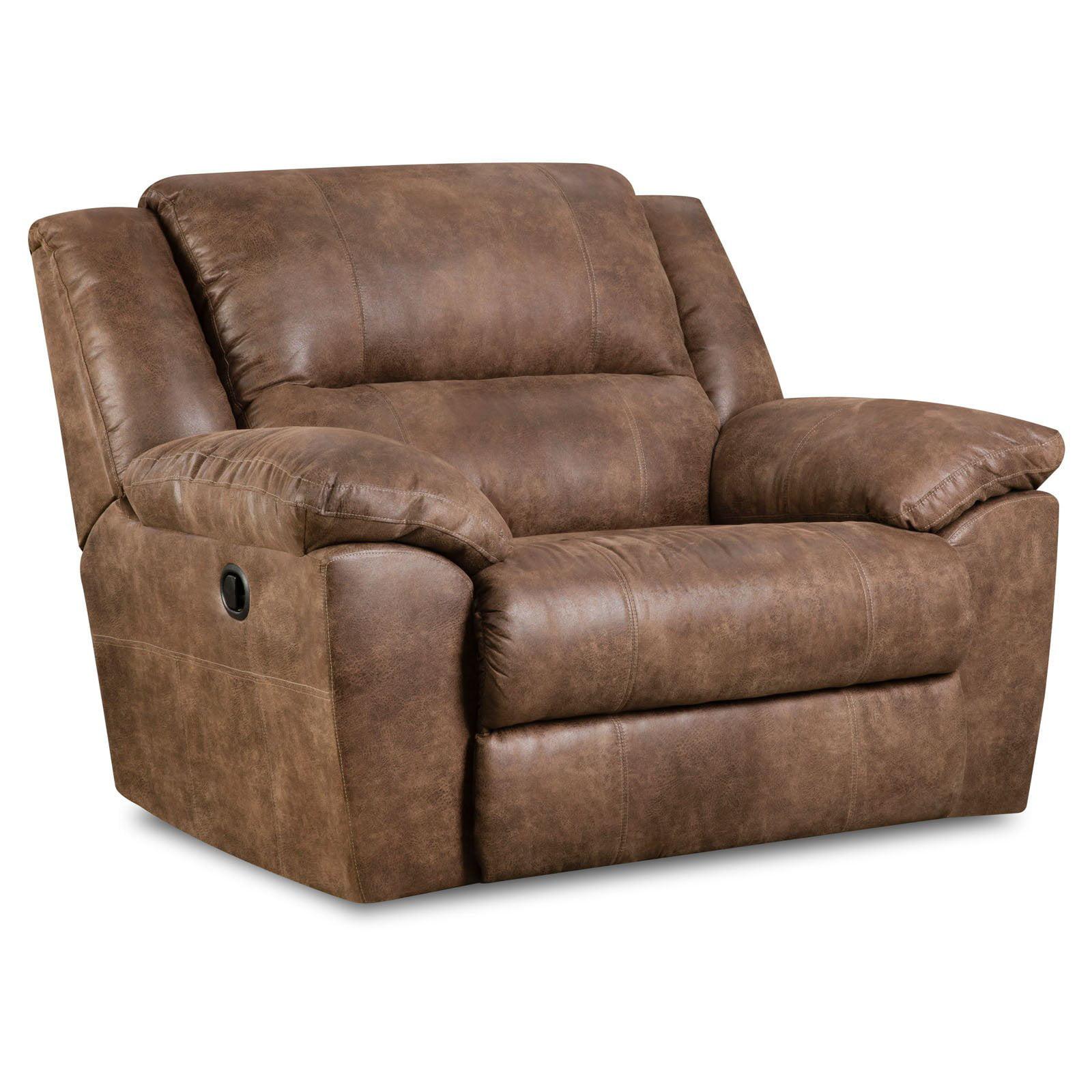 Simmons Upholstery Phoenix Cuddler Recliner   Mocha   Walmart.com