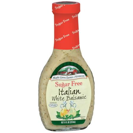 White Balsamic Dressing (Maple Grove Farms Sugar Free Italian White Balsamic Dressing 8 Oz Glass)