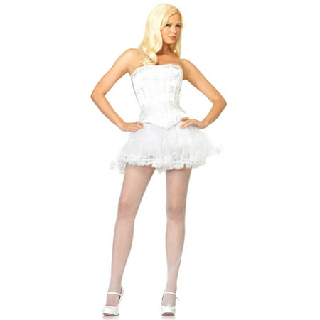 Womens Sexy White Corset Halloween Costume Accessory](Corsets Halloween)