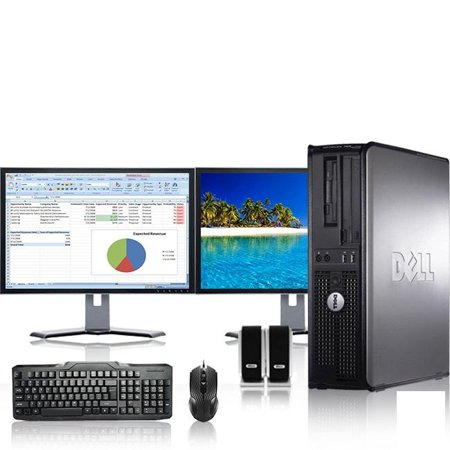 Dell Optiplex Desktop Computer 2 6 GHz Pentium D Tower PC, 4GB RAM, 160 GB  HDD, Windows 7, ATI , Dual 17