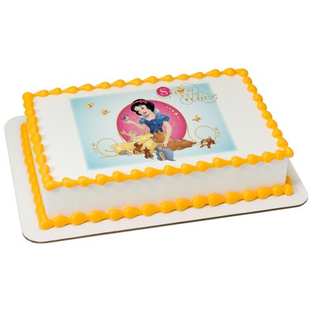 Intelligent Snow White Round Edible Party Cake Image Topper Frosting Icing Sheet Up-To-Date Styling Baking Accs. & Cake Decorating