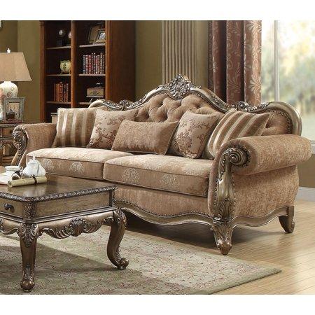Vintage Oak Finish Living Room Sofa Classic Acme Furniture 56030 Ragenardus ()