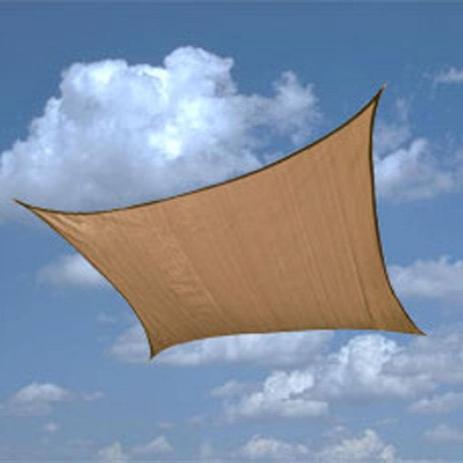 ShadeLogic Sun Shade Sail, Heavy Weight, 16' Square, Sand