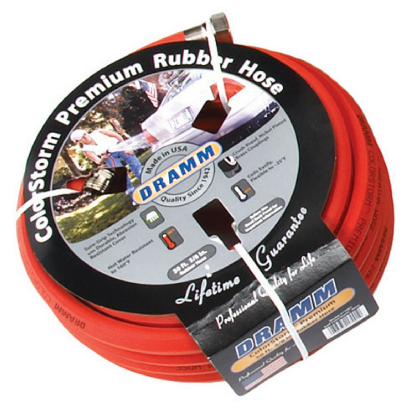 Dramm ColorStorm 5/8 in. Premium Rubber Garden Hose - 50 ft.