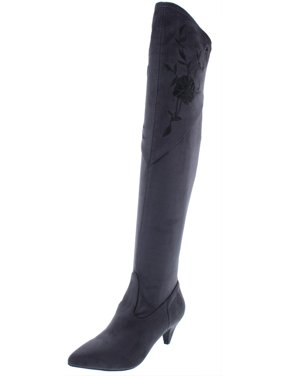 1b4266b8c569 Product Image Impo International Womens Edeva Stretch Embroidered  Over-The-Knee Boots