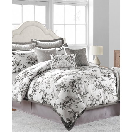 Sunham Home Fashions - Sunham Home Fashions Hillcrest Comforter Set, Off/White