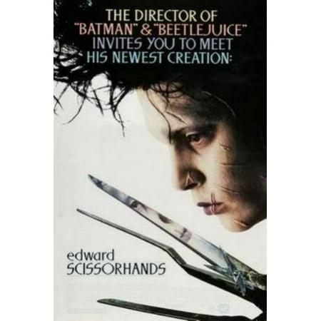 Edward Scissorhands Movie Poster 24in - Edward Scissorhand