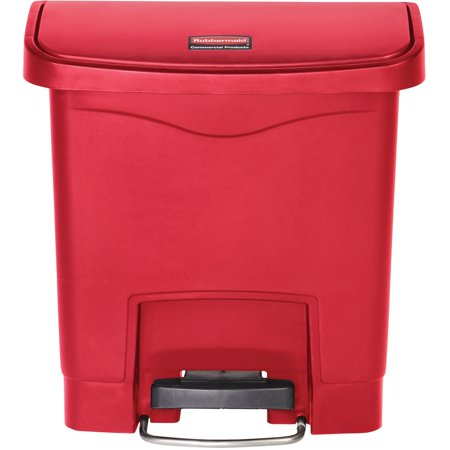 Con Hinge (Rubbermaid Commercial, RCP1883563, 4G Slim Jim Front Step Container, 1, Red )