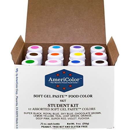 FOOD COLOR GEL 12 PACK