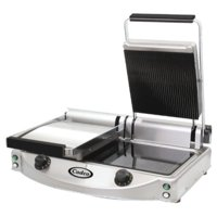 cadco double panini/clamshell 220-volt grill