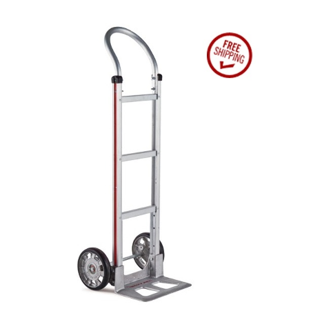 "Aluminum Loop Handle 14"" Nose 8"" Tire Hand Truck (500# Cap.) Stair Climber"