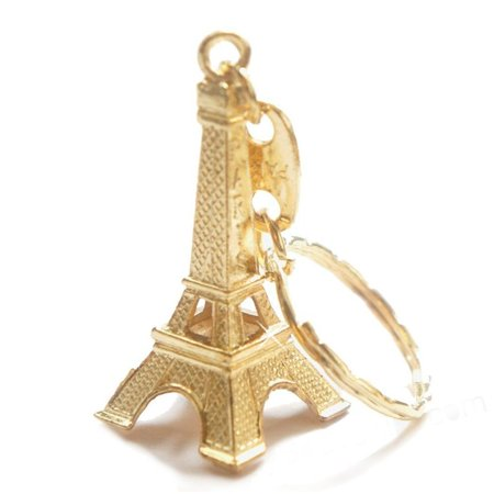 24pcs/lot Gold Cute Adorable 3D Eiffel Tower Key Chain, French Souvenir Paris Keychain, By - Cute Keychains