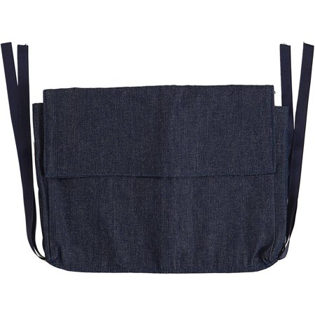 DMI Multi-Pocket Walker Bag for Folding Walker, Rollator Carry-All Pouch Bag, Blue Denim
