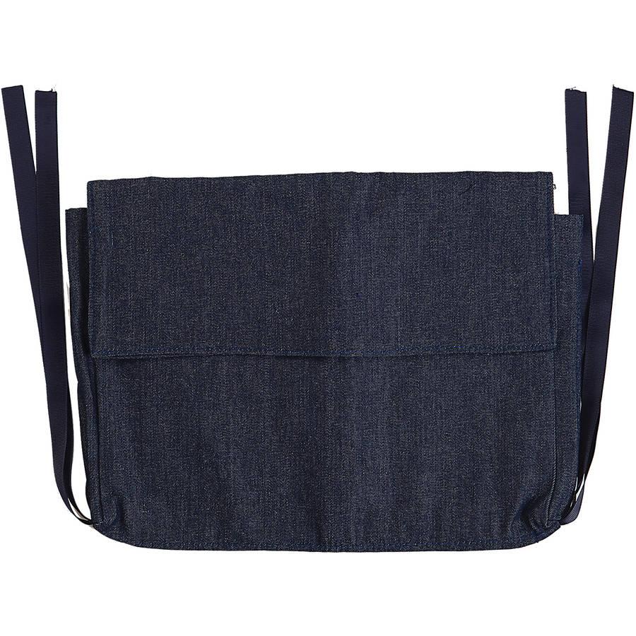 DMI Multi-Pocket Walker Bag for Folding Walker, Rollator Carry-All Pouch Bag, Blue Denim