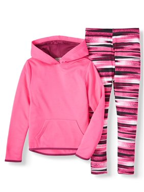 Cheetah Performance Fleece Hoodie and Legging, 2-Piece Active Set (Little Girls & Big Girls)