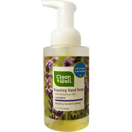 CleanWell Antibacterial Foaming Hand Soap, Lavender 9.5 oz (Pack of 6) (Antibacterial Foam)