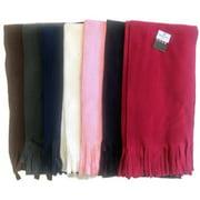 DDI 324904 Winter Fleece Scarf-Solid-Pack of 60