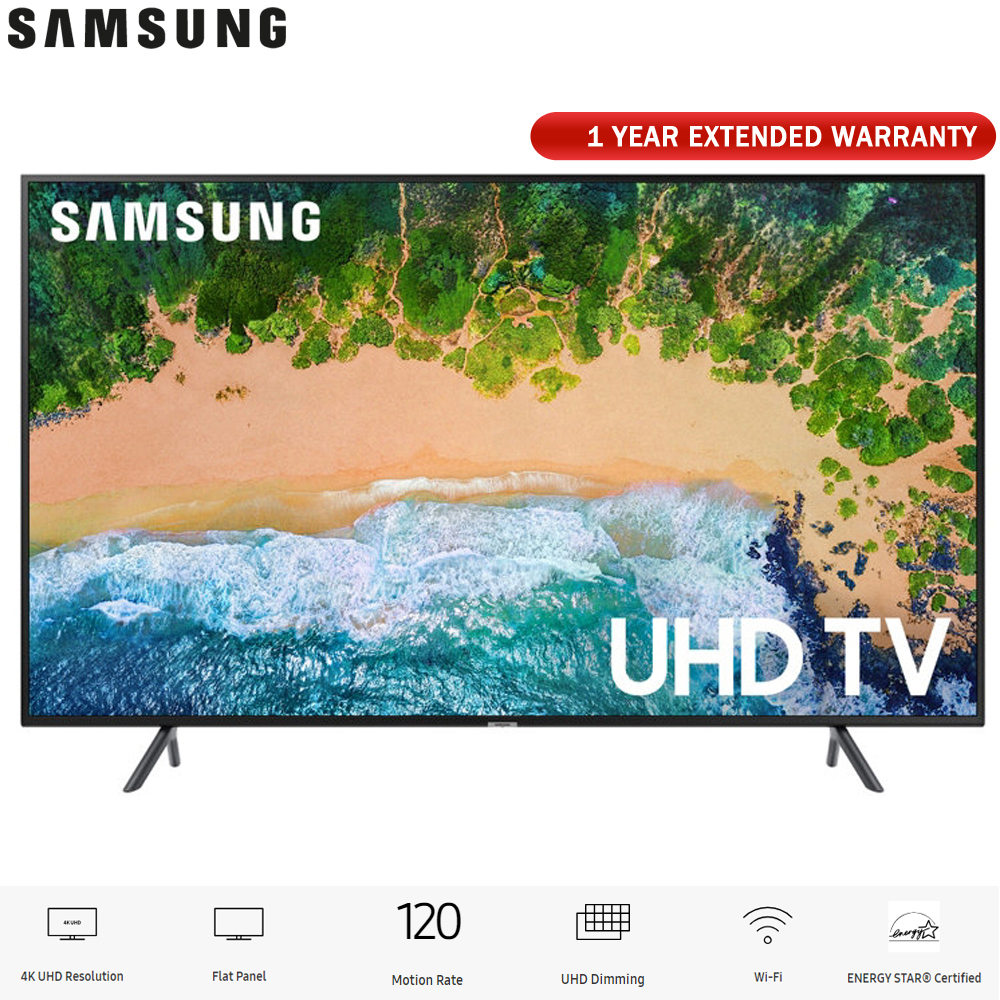 "Samsung 75NU7100 75"" NU7100 Smart 4K UHD TV (2018) with Extended Warranty (UN75NU7100)"