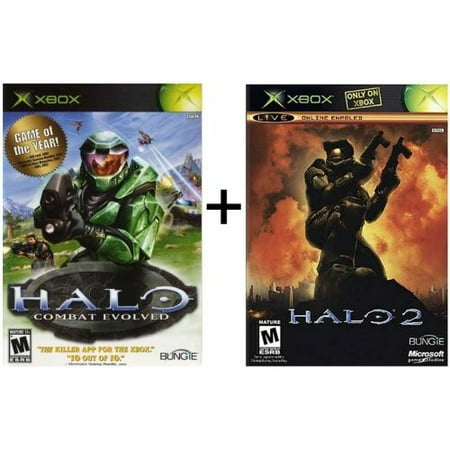 Refurbished Halo 1 And Halo 2 Bundle Xbox And Compatible For Xbox (Halo Compatible Track Type)